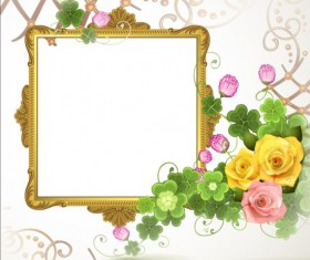 Classical frame with flower design 05
