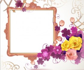 Classical frame with flower design 06