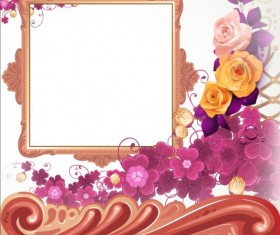 Classical frame with flower design 07