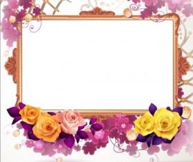 Classical frame with flower design 08