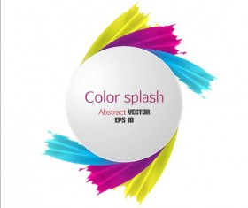 Color splash abstract background 02