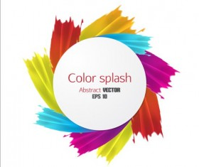 Color splash abstract background 03