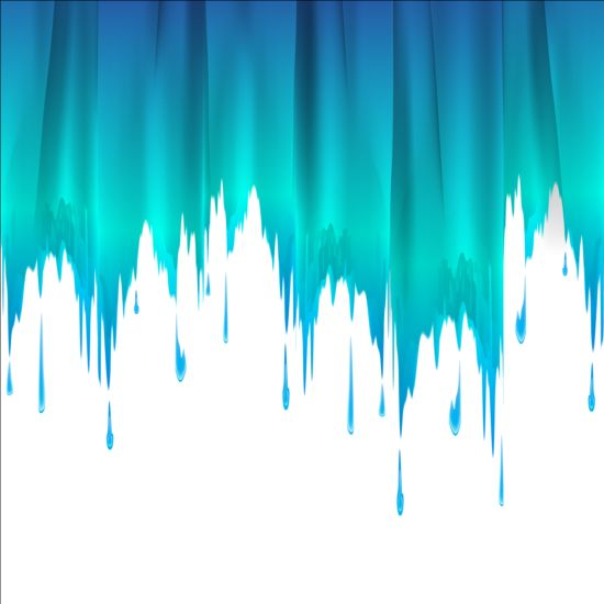 Colored Paints Drip Background Vector 02