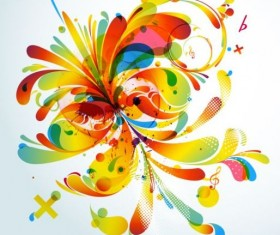 Colorful abstract background with grunge vector 01