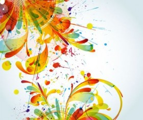 Colorful abstract background with grunge vector 03