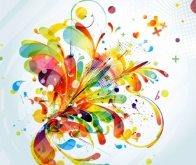 Colorful abstract background with grunge vector 04