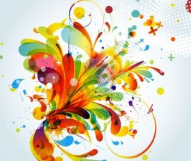Colorful abstract background with grunge vector 05