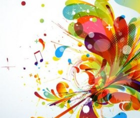 Colorful abstract background with grunge vector 07