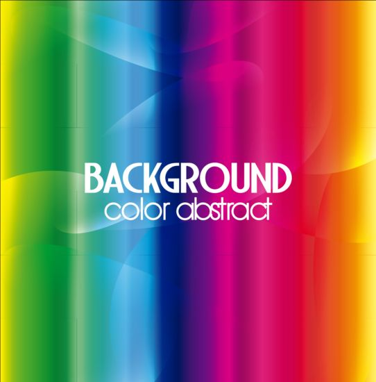 Colorful blurs background vector