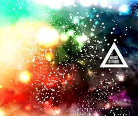 Complicated light dots with triangle background vector 01
