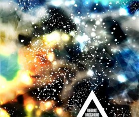 Complicated light dots with triangle background vector 06