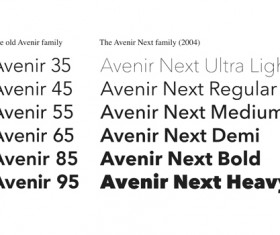 Creative Avenir font