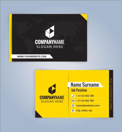 Creative business card black with yellow vector 04 free download creative business card black with yellow vector 04 colourmoves