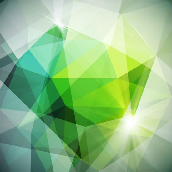 Creative modern polygon background vector set 04