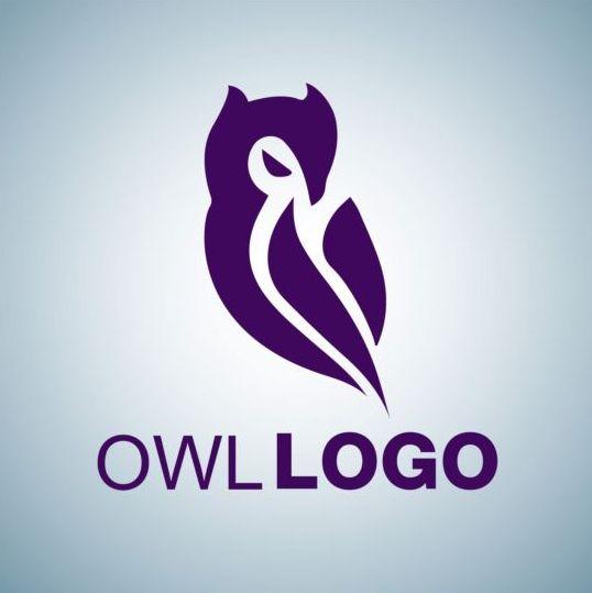 Creative owl logo design vector 03