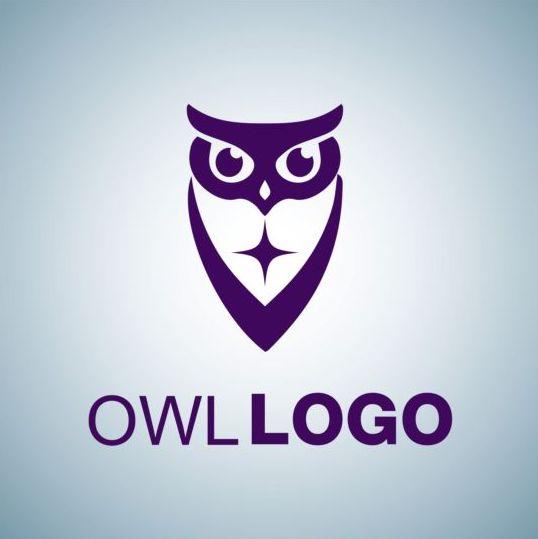 Creative owl logo design vector 05