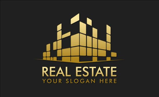 creative real estate logo vectors