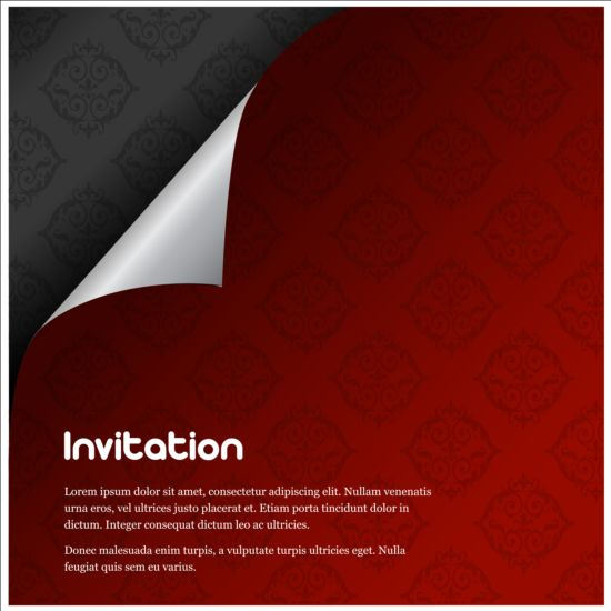 Curled vector for free download curled corner invitation background vector stopboris Gallery