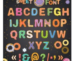 Cute sweet font vector