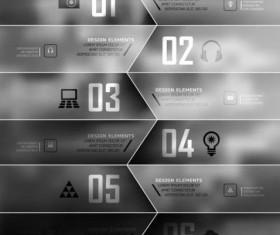 Dark Styles Options Infographics Vector 04