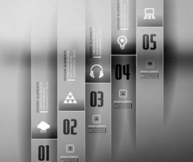 Dark Styles Options Infographics Vector 06
