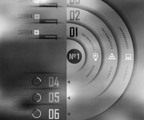 Dark Styles Options Infographics Vector 07