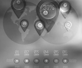 Dark Styles Options Infographics Vector 08