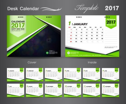 Calendar Cover Page Design : Desk calendar vectors template vector