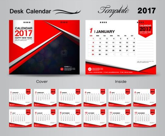 Calendar Design Templates Free Download : Desk calendar vectors template free download