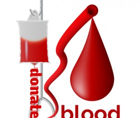 Donate blood creative vector material 01