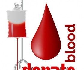 Donate blood creative vector material 02