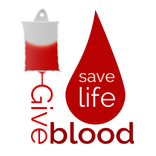 Donate blood creative vector material 04