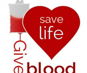 Donate blood creative vector material 06