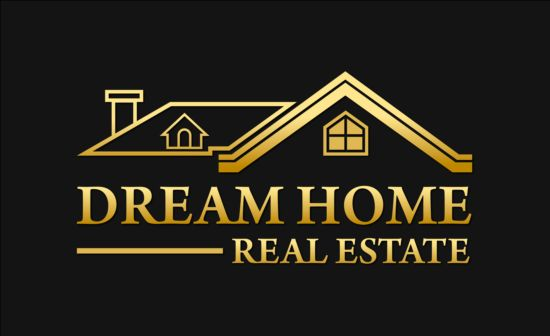 Dream home logo vector