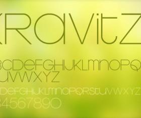 Elegant krolvitz font