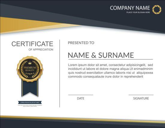 Exquisite certificate design vector 04 vector cover free download exquisite certificate design vector 04 yelopaper Images