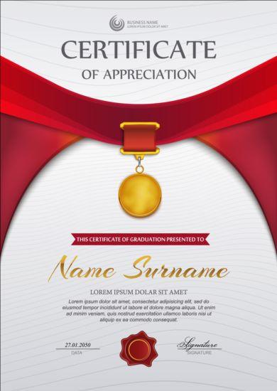 Exquisite certificate design vector 06 - Vector Cover free download