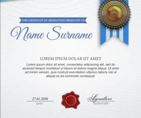 Exquisite certificate design vector 07