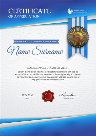 License Certificate Template