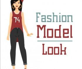 Fashion model vector material 06