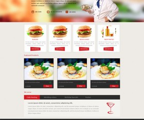Fast food website psd template