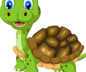 Funny cartoon turtles vectors 01