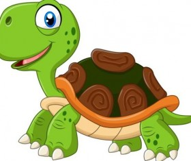 Funny cartoon turtles vectors 02