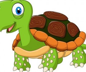 Funny cartoon turtles vectors 03