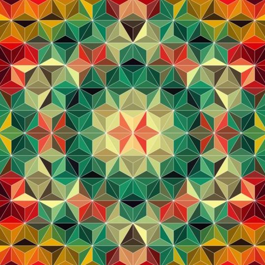 Geometric shape with mandala pattern vector 07