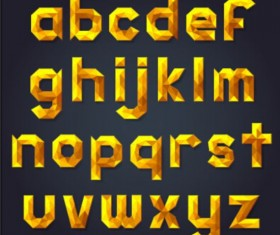 Gold geometric alphaber vector