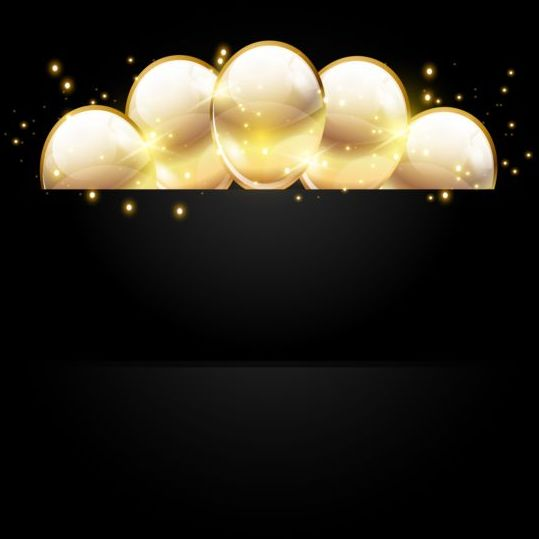Golden Balloon With Black Birthday Background 02 Free Download