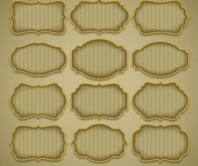 Golden frame labels vector