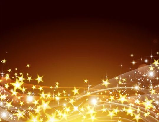 Golden Star With Abstract Background Vector