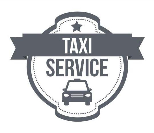 Gray taxi labels set vector 08 - Vector Car, Vector Label free ...